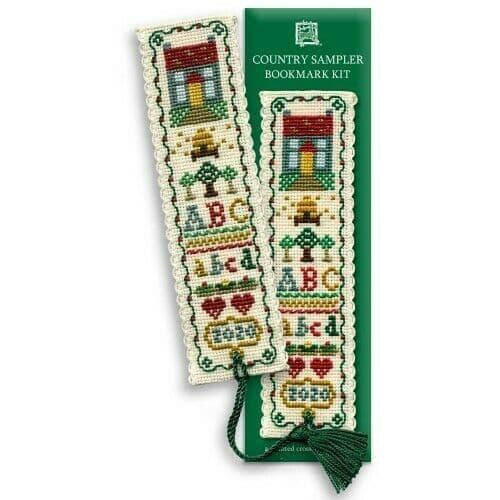 Country Sampler Counted Cross Stitch Bookmark Kit